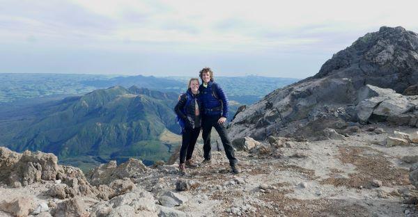 Summit Taranaki in summer is best for trampers